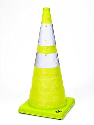 """Mutual Industries 17712-1-28 Collapsible Reflective Traffic Cone with Inside 28"""""""