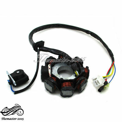 8 Coil AC Ignition Stator Magneto Fit GY6 50cc Engine Scooter Moped ATV Go Kart