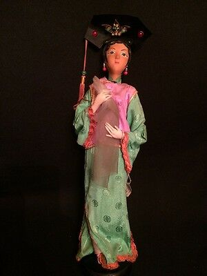 "Rare! Antique 19th.c Handmade Chinese Character ""Hoga Girl"" Opera Doll"