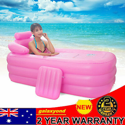Blow up Adult Spa PVC Folding Portable Bathtub Warm Inflatable Bath Tub Relaxing