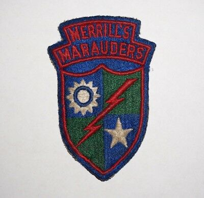 Merrills Marauders Patch WWII US Army P4858