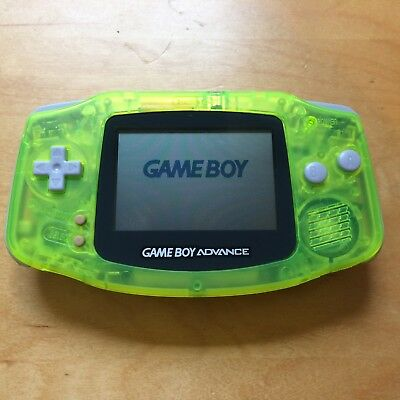 Nintendo GameBoy Advance GBA Translucent Green/Yellow - 30 Day Warranty!