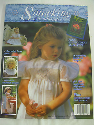 Australian Smocking & Embroidery # 23 1993 Old Rare issue Dress Maternity Doll