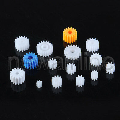 5pc 6/8/9/10/12/14/15/18T Teeth 0.4/0.5 Mold 1-3mm Hole Motor Plastic Gear Wheel