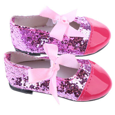 Doll Sequin Shoes Flats for43Cm Zapf Baby Born Doll and Other 18 Inch Doll