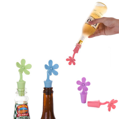 Kitchen Flower Shape Wine Stopper Silicone Wine Champagne Bottle Stoppers