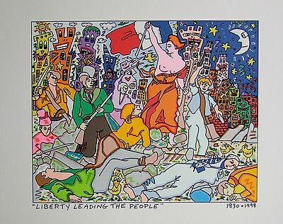 James Rizzi Liberty Leading the People- Farblithografie