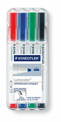 STAEDTLER® Whiteboardmarker Lumocolor 4St Box compact farb. sort. 1,5mm NEU&OVP
