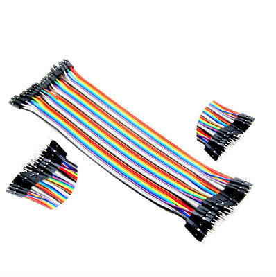 NEW 40pcs Dupont wire cable 1p-1p male to Female connector 2.54mm 20cm arduino