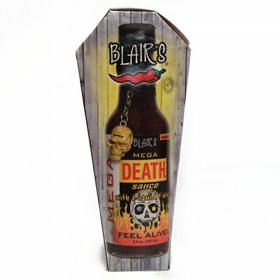 903746 150mL BOTTLE OF BLAIR'S MEGA DEATH SAUCE WITH SPICY LIQUID FURY! AMERICAN
