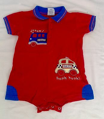 Dymples- Baby Clothing Tee T Shirt Romper Outfits,  Sz 0, Fits 12 Months
