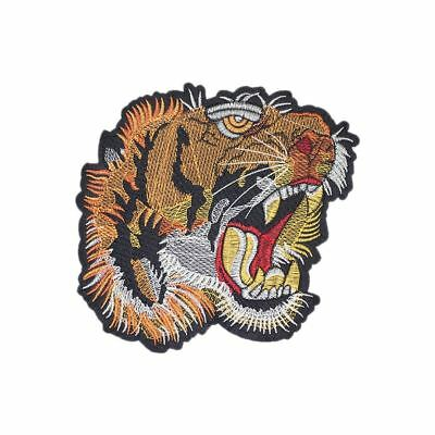 Wild Tiger XL (Iron on) Embroidery Applique Patch Sew Iron Badge