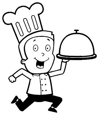 Chef Decal 3, Burger Van Stickers, Catering Trailer, Cafe, Catering.