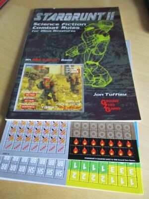 Buch Rollenspiel Stargrunt II Science Fiction Combat Rules for 25mm miniatures