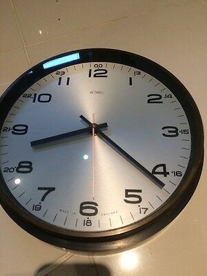 Untested Untidy Metamec Industrial Office Waiting Room  Electric Clock