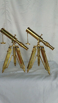 Christmas Halloween Special Nautical FULL Brass Telescope With Stand Vintage ITM