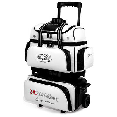 Storm Rolling Thunder 4-Ball Roller Bowling Bag Signature White/black