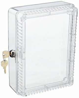 Honeywell Large Locking Tamper Proof Thermostat Cover Case Clear - NEW -
