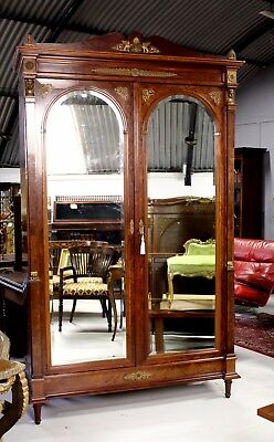 A Lovely French Empire Ormolu Mounted Two Door Wardrobe