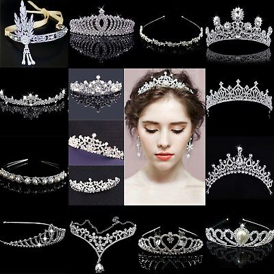 Bridal Wedding Crystal Flower Tiara Crown Rhinestone Hair Band Headband