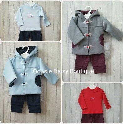 ☆ Baby Boys Gorgeous Spanish Duffle Coat Top & Trousers Set ☆ 3 Piece Outfit ☆