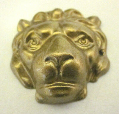 1 New Old Mantle Clock Repair Replacement Part Bronze on Zinc Lion Head 1-1/2""