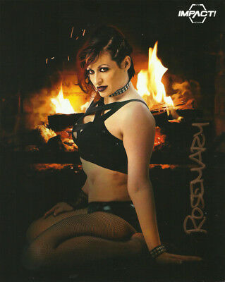 Official TNA / GFW Impact Wrestling Hand Signed Rosemary Knockouts 8x10 Photo