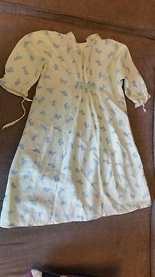 Vintage collectable baby gown yellow dog pattern