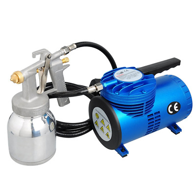 Voilamart 1/4 HP Diaphragm Compressor Airbrush Kit Air Brush Spray Gun Paint