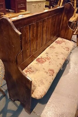 Reclaimed 3 seated Welsh Chapel Pew