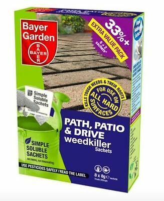 Bayer Garden Path, Patio & Drive Weedkiller 8 Sachets