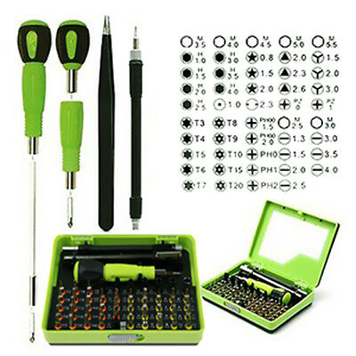 Screwdriver Set With Handle 53 in1 Multi-Bit Precision Tweezer Repair Tool Set