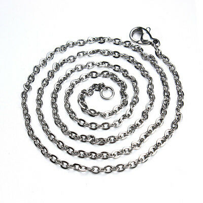 10pcs/lot 50CM Stainless Steel Open Link Chain&Lobster Clasps Jewelry Diy Making