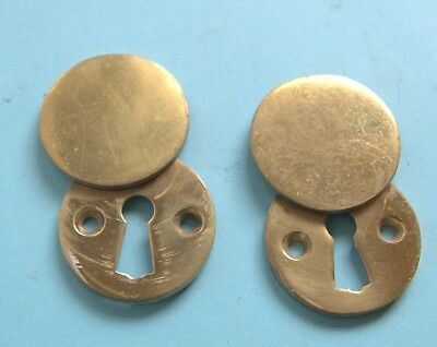 Pair of reclaimed key hole covers