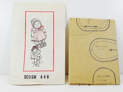 Laura Wheeler Vintage Baby Doll Pattern Design 640 Includes Clothing Pattern