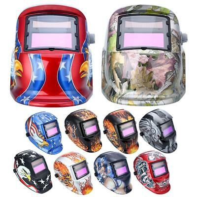 Auto-Darkening Welding Helmet Mask Welders Arc Tig Mig Grinding Solar Powered