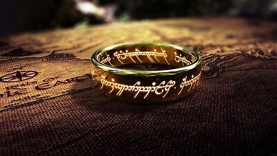 Lord of the Rings One Ring Writing Poster A4 A3 A2 A1 Gift Present