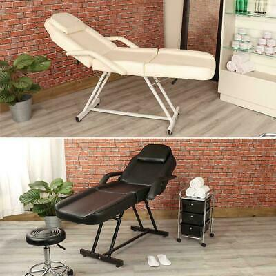 Wido MANUAL CREAM/BLACK MASSAGE COUCH BED BEAUTY THERAPIST TREATMENT CHAIR