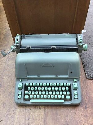 Vintage Hermes Ambassador Typewriter /Swiss made VGC BLUE WORKING