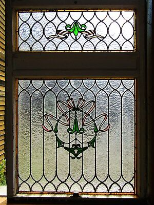 Antique 2 Part Stained Glass Window