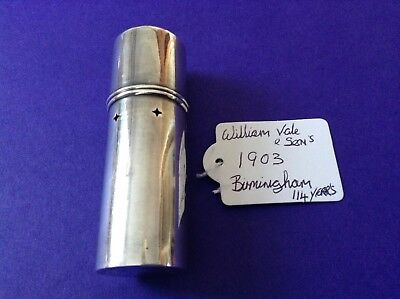 Antique Solid Silver Shaving Brush Holder Hallmarked For Birmingham 1903