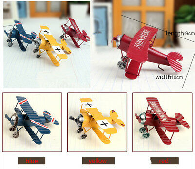 3 Colors Collectable Vintage Metal Airplane Model Aircraft Home Decor Plane Toy