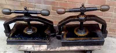 Two Distinguished Cast Iron Book Presses