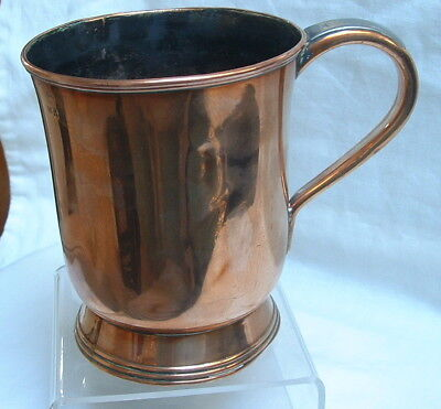 Rare 18th Century Antique William 111 Ale Standard Mark Copper Baluster Tankard
