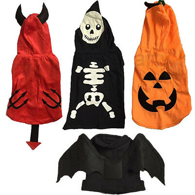 Pet Dog Cat Halloween Fancy Dress Costume Coat Outfit