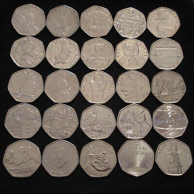 Various 50p Coins Olympics/Judo/Triathlon/WWF/Kew/Beatrix/Jemima/Paddington Set