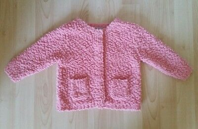 Next Baby Girl Gorgeous Fluffy Jumper 1.5-2 18 24 Months  Excellent