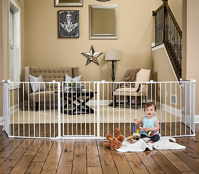 Baby Pet Dog Extra Wide Safety Metal Gate Playpen Indoor Child Walk Fence Fire