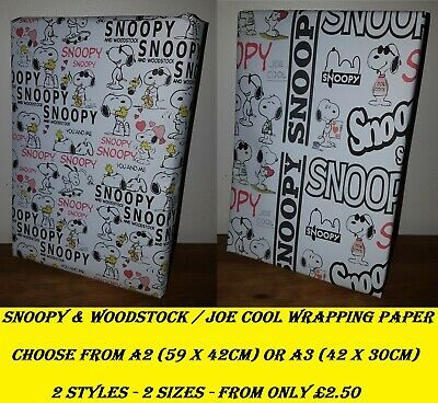 Exclusive Snoopy & Woodstock / Joe Cool Wrapping Paper, Peanuts inc CHRISTMAS!
