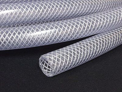 PVC HOSE Clear Flexible Reinforced Braided 19MM - Food Grade OIL/WATER Pipe Tube